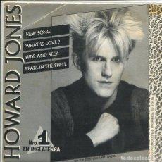 Discos de vinilo: HOWARD JONES / NEW SONG / WHAT IS LOVE? + 2 (EP PROMO 1984). Lote 117453899