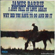 Discos de vinilo: JAMES BARRIE / ESTOY ENAMORADO / WHY DID YOU HAVE TO GO AND DO IT (SINGLE PROMO 1979). Lote 117456155