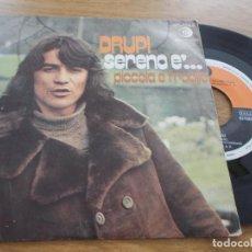 Discos de vinilo: DRUPI. SERENO E´ PICCOLA E FRAGILE.. Lote 117456503