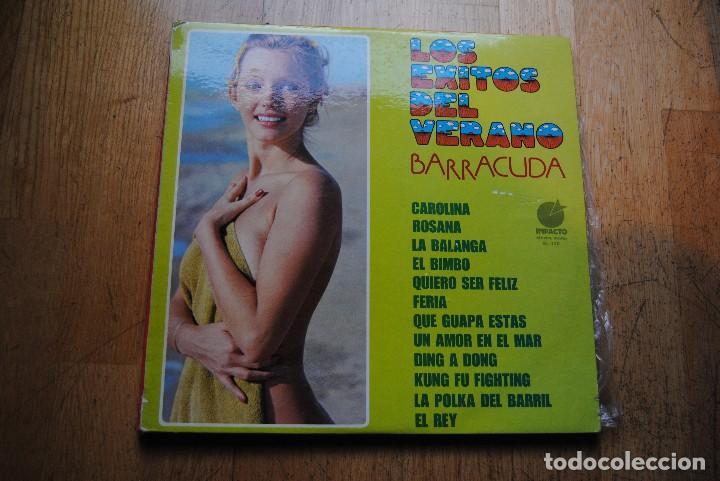 LOS EXITOS DEL VERANO. BARRACUDA. LP IMPACTO 1975. SEXY COVER NUDE (Música - Discos - LP Vinilo - Grupos Españoles de los 70 y 80)