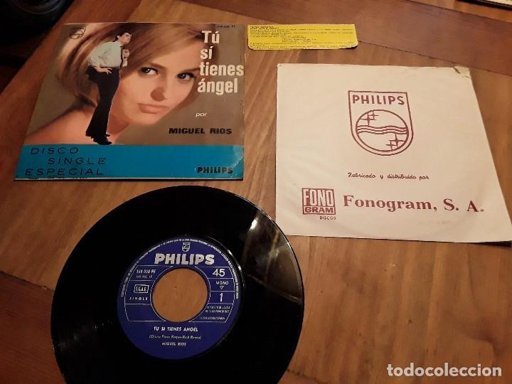 MIGUEL RÍOS, TU SI TIENES ÁNGEL, CON CUPÓN REGALO. (Música - Discos de Vinilo - Maxi Singles - Solistas Españoles de los 50 y 60)