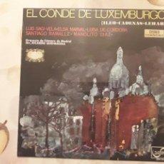 Discos de vinilo: CONDE DE LUXEMBURGO. VINILO.. Lote 117470295