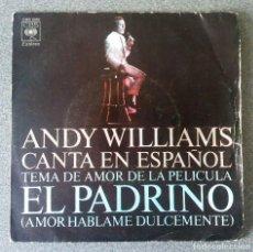Discos de vinilo: VINILO SINGLE ANDY WILLIAMS. Lote 117484195