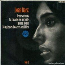 Discos de vinilo: JOAN BAEZ / REGRESAREMOS + 3 (EP 1964). Lote 117517791