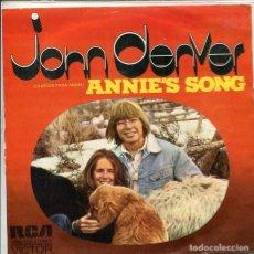 Disques de vinyle: JOHN DENVER / CANCION PARA ANNIE / COOL AN' GREEN AN' SHADY (SINGLE PROMO 1974). Lote 197632930