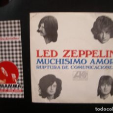 Discos de vinilo: LED ZEPPELIN- MUCHISIMO AMOR. SINGLE. Lote 117534691