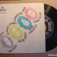 Discos de vinilo: EL TEMA DEL MOULIN ROUGE, EL TERCER HOMBRE, CANDILEJAS, ANA - EP 1961 - DECCA. Lote 117541979
