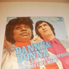 Discos de vinilo: SINGLE DANNY 6 DONNA. EL VALS DE LAS MARIPOSAS. DREAMS LIKE MINE. COLUMBIA 1971 SPAIN (PROBADO). Lote 117544519