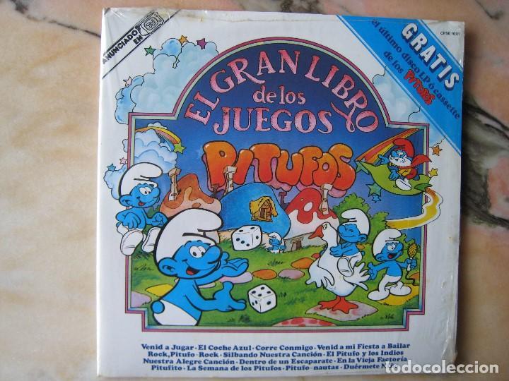DISCO L.P. DE VINILO EL GRAN JUEGO DE LOS PITUFOS (Música - Discos - LPs Vinilo - Música Infantil)