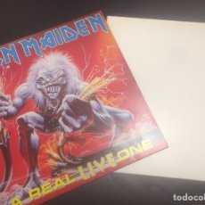 Discos de vinilo: IRON MAIDEN A REAL LIVE & DEATH ONE 2 LPS. Lote 117555652
