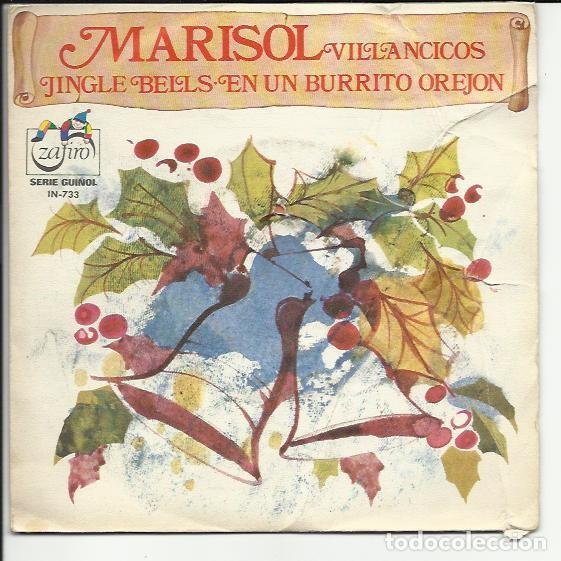 MARISOL SG: VILLANCICOS ( JINGLE BELLS & EN UN BURRITO OREJON ) SERIE GUIÑOL (Música - Discos de Vinilo - Maxi Singles - Solistas Españoles de los 50 y 60)