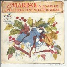Discos de vinilo: MARISOL SG: VILLANCICOS ( JINGLE BELLS & EN UN BURRITO OREJON ) SERIE GUIÑOL. Lote 117583315