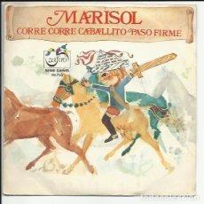 Discos de vinilo: MARISOL SG 1972 - ZAFIRO SERIE GUIÑOL - CORRE CORRE CABALLITO Y PASO FIRME COMPARTIR LOTE. Lote 117583623