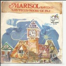 Discos de vinilo: MARISOL NAVIDA SG SERIE GUIÑOL LOS PECES/NOCHE DE PAZ VINILO ROJO. Lote 117583819