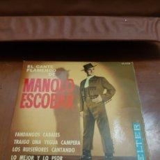 Discos de vinilo: MANOLO ESCOBAR - EL CANTE FLAMENCO DE MANOLO ESCOBAR - 1960. Lote 117585478