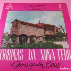 Discos de vinilo: MORRIÑAS DA MIÑA TERRA-JOAQUÍN DEUS-ZAFIRO-MONTILLA-1960-EPFM 149-BUEN ESTADO-VER FOTOS. Lote 117589259