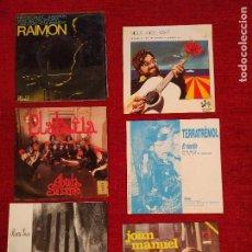 Discos de vinilo: LOTE DE 6 SINGLES DEL ESPECTRO CATALAN. Lote 117605867