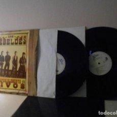 Discos de vinilo: LOS REBELDES -PREFERIBLEMENTE VIVOS-2 LPS-1987- MADRID- EPIC- CBS- . Lote 117623171