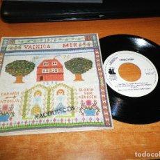 Discos de vinilo: VAINICA DOBLE VAINICA MIX SINGLE DE VINILO PROMOCIONAL AÑO 1991 CARMEN SANTONJA GLORIA VAN AERSEN. Lote 117647362
