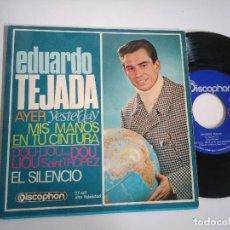 Discos de vinilo: EP-EDUARDO TEJADA-AYER(YESTERDAY)1968-SPAIN-. Lote 117648747