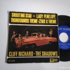 Discos de vinilo: EP-CLIFF RICHARD THE SHADOWS-SHOOTING STAR-1967-SPAIN-. Lote 117649199