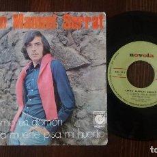 Discos de vinilo: JOAN MANUEL SERRAT - COMO UN GORRION / SI LA MUERTE PISA MI HUERTO - SINGLE. Lote 117651987