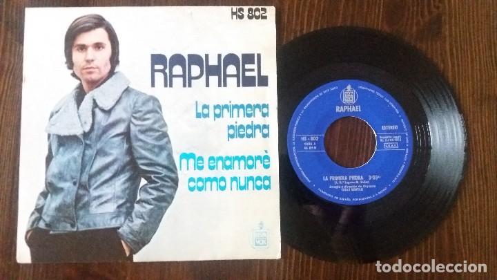 RAPHAEL - LA PRIMERA PIEDRA - SINGLE (Música - Discos - LP Vinilo - Solistas Españoles de los 70 a la actualidad)