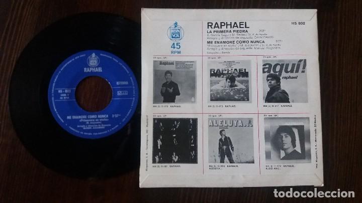 Discos de vinilo: RAPHAEL - LA PRIMERA PIEDRA - SINGLE - Foto 2 - 117652855