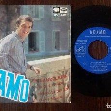 Discos de vinilo: ADAMO CANTA EN ESPAÑOL EP 1967- EN BANDOLERA. Lote 117655047