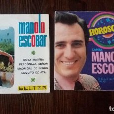 Discos de vinilo: MANOLO ESCOBAR - 2 DISCOS - HOROSCOPO - ROSA MANUELA. Lote 117658715