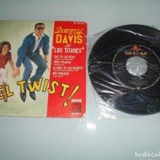 Discos de vinilo: X- DANNY DAVIS Y LOS TITANES - EP 1961 - ! EL TWIST !. Lote 117668863