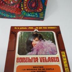 Discos de vinilo: CONCHITA VELASCO: DE LA PELÍCULA PERO... ¿EN QUÉ PAÍS VIVIMOS?: BEATNIK / LA MORENA DE MI COPLA + 2. Lote 117671319