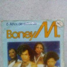 Discos de vinilo: BONEY M * 6 AÑOS DE EXITOS *. Lote 117680767
