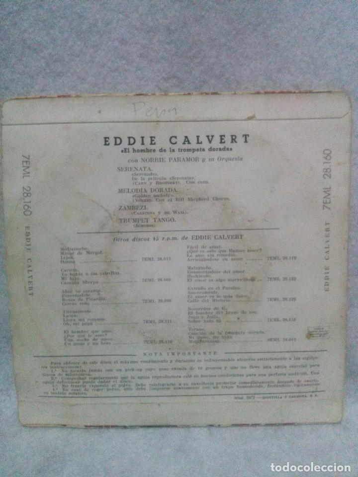 Discos de vinilo: Eddie Calvert *El hombre de la trompeta dorada-La voz de su amo* - Foto 2 - 117686679