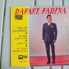Discos de vinilo: RAFAEL FARINA. TUNA A SALAMANCA. 16.716. ODEON 1967 SINGLE VINILO. Lote 117720939