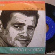 Discos de vinilo: SERGIO ENDRIGO - CANZONE PER TE + GIANNI PETTENATI - LA TRAMONTANA - SINGLE CETRA 1968. Lote 117730155