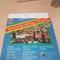 Discos de vinilo: 2 LP TANZTURNIER MIT HUGO STRASSER. Lote 117763058