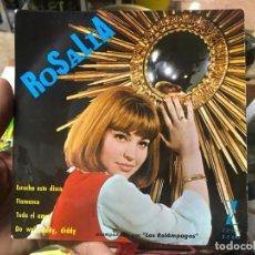 Discos de vinilo: ROSALIA CON LOS RELAMPAGOS / ESCUCHA ESTE DISCO / ZAFIRO 1965. Lote 117764439