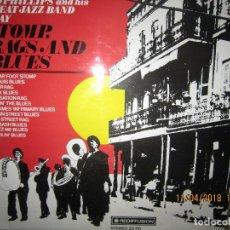 Discos de vinilo: SID PHILLIPS - STOMP, RAGS AND BLUES LP - EDICION INGLESA - REDIFUSION RECORDS 1972 STEREO.. Lote 117766419