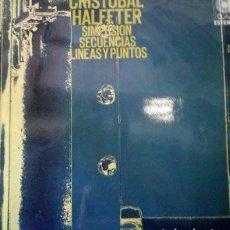 Discos de vinilo: VINILO CRISTOBAL HALFTER. 1971 ENCARTE. Lote 117811043