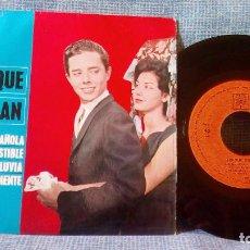 Discos de vinilo: ENRIQUE GUZMAN / MANTILLA ESPAÑOLA + 3 (EP, CBS DE 1963) VERSIONES DE ROCK & ROLL EN ESPAÑOL. Lote 117821191