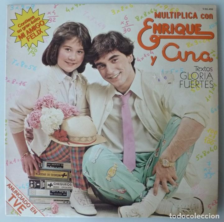 MULTIPLICA CON ENRIQUE Y ANA (LP HISPAVOX 1980) GLORIA FUERTES (Música - Discos - LPs Vinilo - Música Infantil)