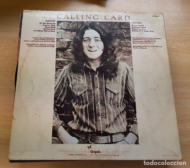 Discos de vinilo: Rory gallagher. Calling card -1976 - Foto 2 - 117828843