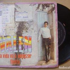 Discos de vinilo: VALEN - LA VIDA VA A EMPEZAR + FIESTA - SINGLE 1968 - RCA. Lote 117847887