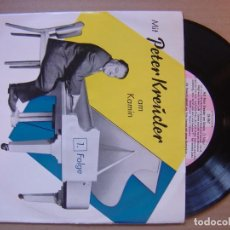 Discos de vinilo: PETER KREUDER AM KAMIN - SINGLE ALEMAN - BERTELSMANN. Lote 117849715