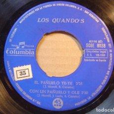 Discos de vinilo: LOS QUANDO´S - EL PAÑUELO BLANCO + EL PAÑUELO + EL PAÑUELO YE-YE..- EP 1966 - COLUMBIA. Lote 117850899