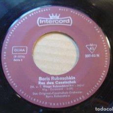 Discos de vinilo: BORIS RUBASCHKIN - RAS DWA CASATSCHOK + ODESSA CASATSCHOK - SINGLE - INTERCORD. Lote 117851291