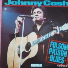 Discos de vinilo: JOHNNY CASH,FOLSOM PRISON BLUES EDICION INGLESA DEL 84. Lote 117881999