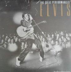 Discos de vinilo: ELVIS PRESLEY · THE GREAT PERFOMANCES · LP (ESPAÑA). 1990.. Lote 117854331