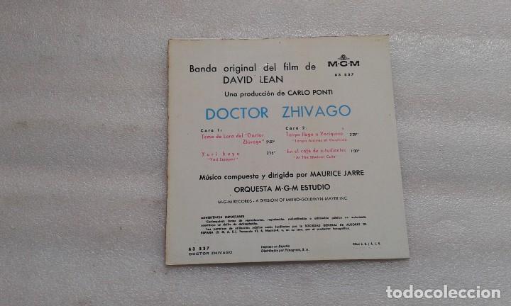 Discos de vinilo: BANDA SONORA - DOCTOR ZHIVAGO TEMA DE LARA EP 1966 - Foto 3 - 117885503